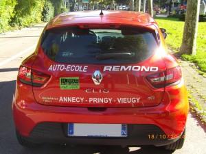 Clio rouge - Remond auto-école